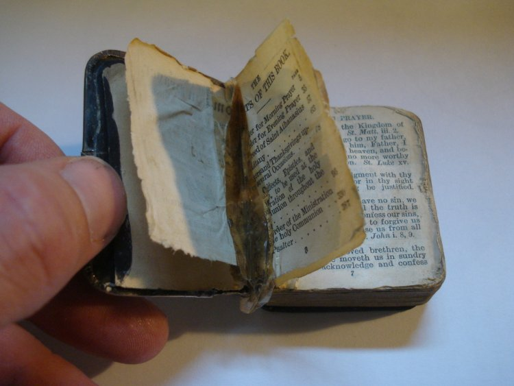 Miniature Common Prayer before restoration